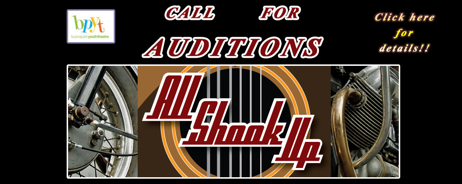 All Shook Up Call For Auditions
